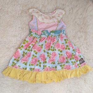 Matilda Jane Floral Polka Dot Dress Girls' Size 4